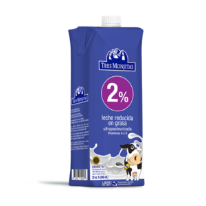 Tres Monjitas UHT 2% Milk Fat 32 Oz