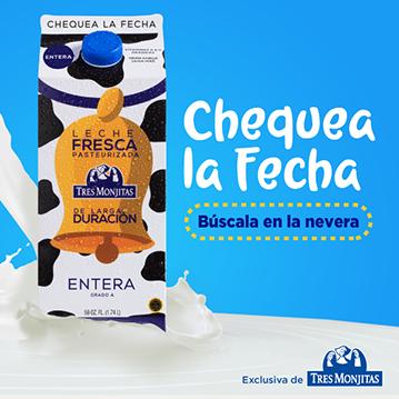 Tres Monjitas lanza la primera leche fresca de larga duración en el mundo