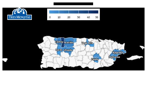 1. Vaquería Tres Monjitas recoge leche fresca a diario, en diversas fincas puertorriqueñas, mayormente destacadas en el área norte, centro y este de la isla.