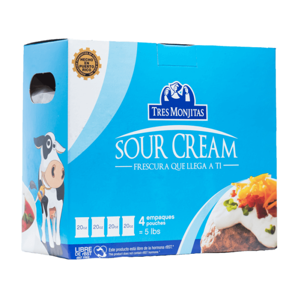 Tres Monjitas Sour Cream 4 empaques 80 Oz