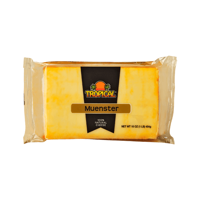 Quesos Tropical Muenster 100% natural Cheese 16 Oz