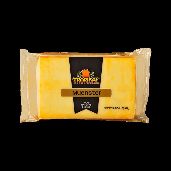 Quesos Tropical Muenster 100% natural Cheese 16 Oz