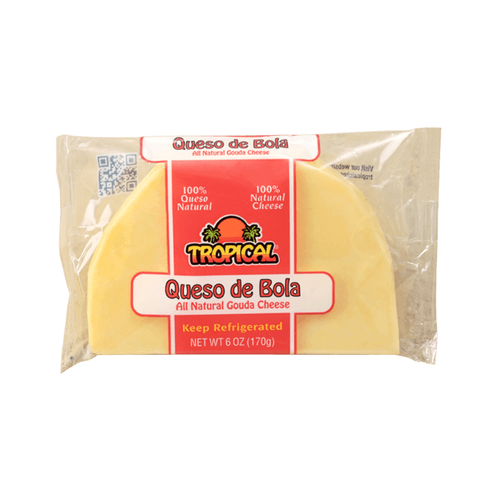 Quesos Tropical Queso de Bola All Natural Gouda Cheese 6 Oz