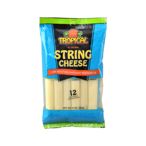 Quesos Tropical String Cheese Low-Moisture Part-Skim Mozzarella