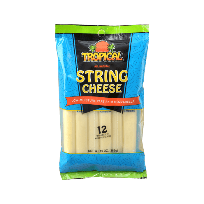 Quesos Tropical String Cheese Low-Moisture Part-Skim Mozzarella