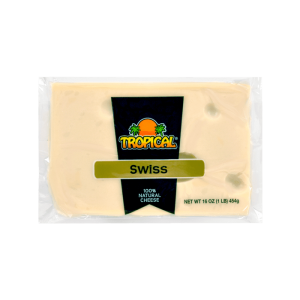 Quesos Tropical Swiss 100% Natural Cheese 16 Oz