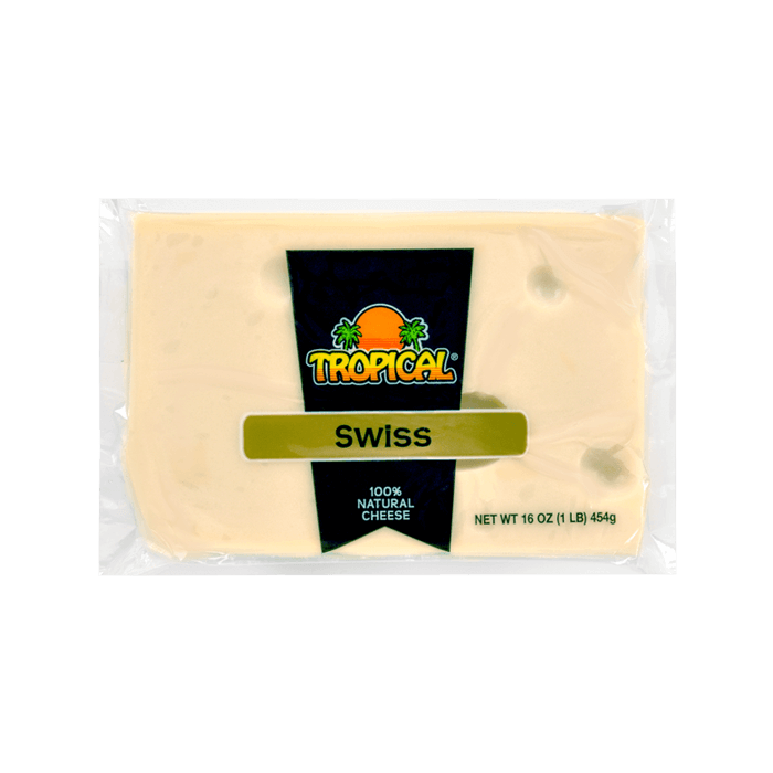Quesos Tropical Swiss 100% Natural Cheese 16 Oz