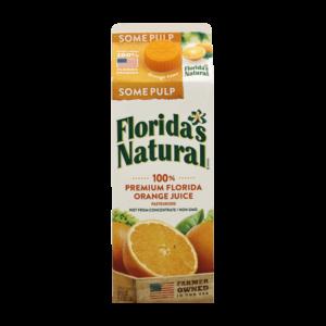 Floridas Natural Premium 100% Jugo De China Alguna Pulpa 52oz