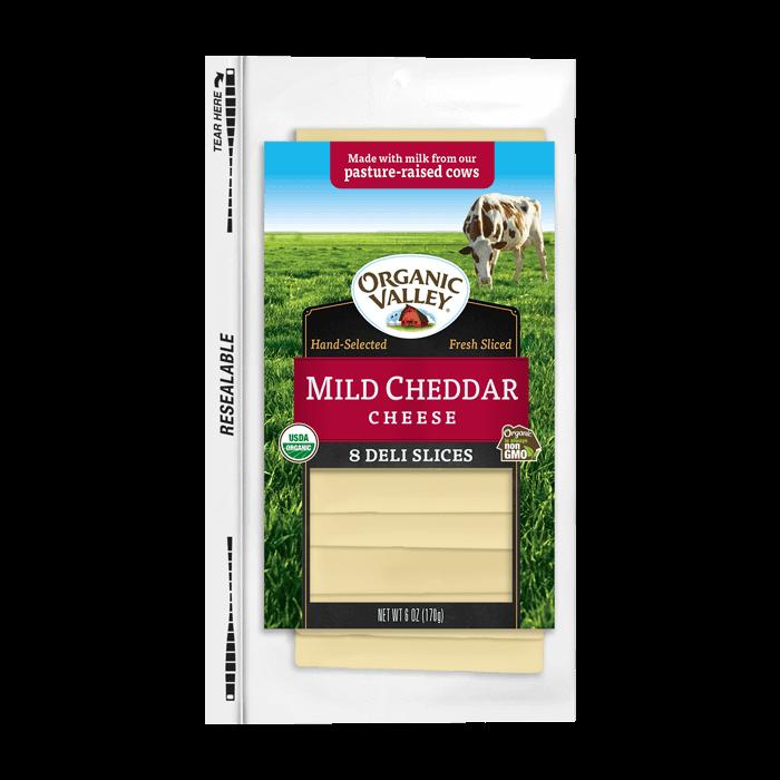 Mild Cheddar Cheese Slices 6oz