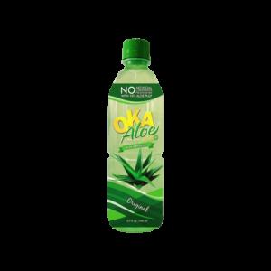 OKA Aloe Plus. Aloe Vera Drink. Original with 10% Aloe Pulp 16.9oz