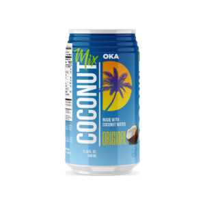 OKA Coconut Mix Original. Made with Coconut water. 11.5 Oz