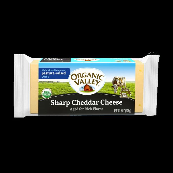 Sharp Cheddar Cheese. Aged for rich flavor 8oz