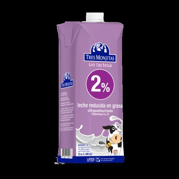 Tres Monjitas UHT 2% Milk Fat Lactose Free 32 Oz