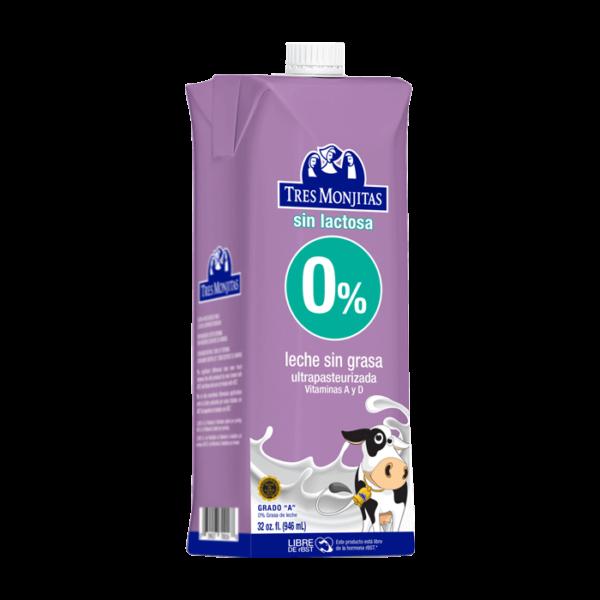 Tres Monjitas UHT 0% Milk Fat Lactose Free 32 Oz